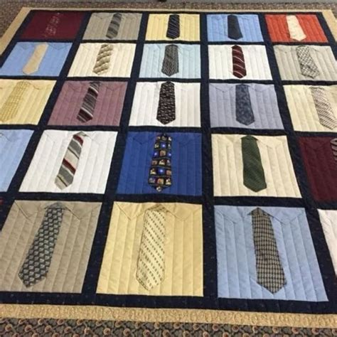 pattern for shirt and tie quilt shirt and tie memory quilt quiltsby me