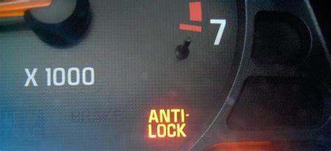 anti lock brake light picture of dash warning lights antilock brakes