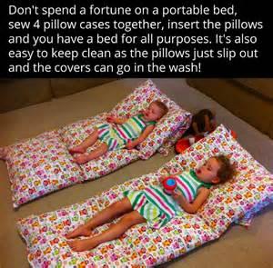 diy portable pillowcase pillow bed