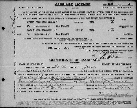 Marriage Records Los Angeles My Trails Into The Past 52 Ancestors Week 17