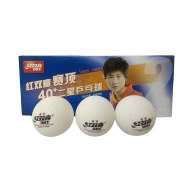 Bola Pingpong Dhs2 jual dhs 2 plastic bola pingpong 10 pcs