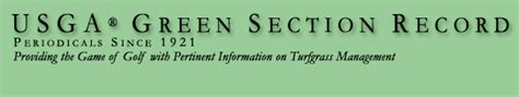 usga green section browse usga green section record 2014