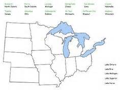 us midwest region map quiz ss midwest region on states and capitals