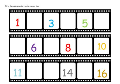 printable version of eyfs number lines and missing numbers by lbrowne teaching