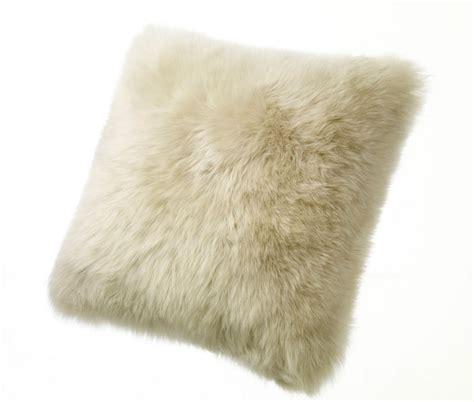 Sheep Skin Pillow by Sheepskin Pillows Large 32 Fur Floor Cushions Ivory