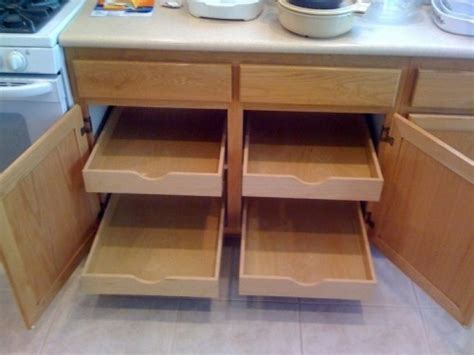 kitchen cabinet rollouts diy kitchen cabinet rollout shelves diggerslist