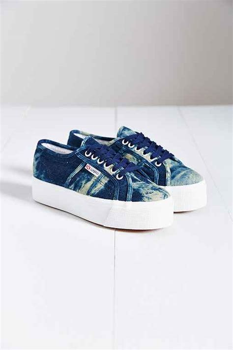 Outfitters Platform Shoe Boots by Superga 2790 Denim Platform Sneaker