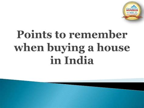 Points To Remember When Buying A House In India Dreamz Infra Ventur
