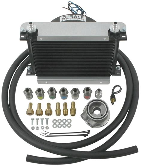 oil cooler with fan derale hyper cool remote engine cooler kit w fan 8 an