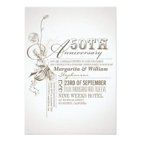25  best ideas about 50th Anniversary Invitations on