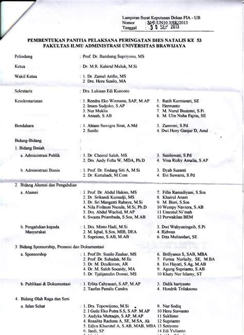 alumni mahasiswa fia ub 187 susunan panitia dies natalis fia