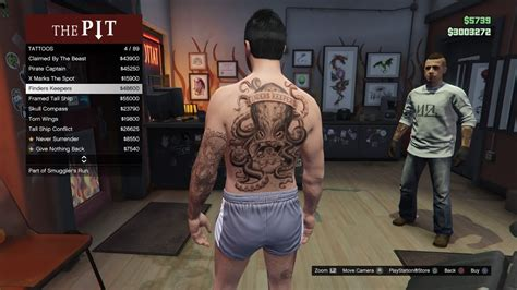 gta online tattoo removal gta online smuggler s run dlc all new tattoos youtube