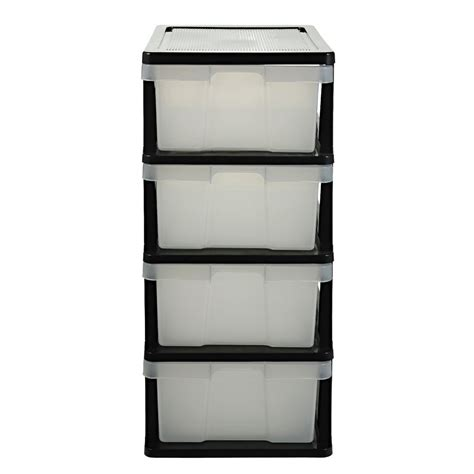 clear storage drawers australia j burrows 4 drawer storage cabinet clear