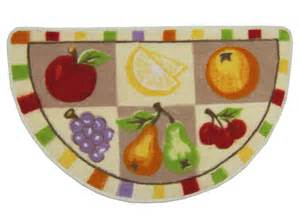 Kitchen Rugs Fruit Design Mixed Fruit Square Design Kitchen Slice 17x28 5
