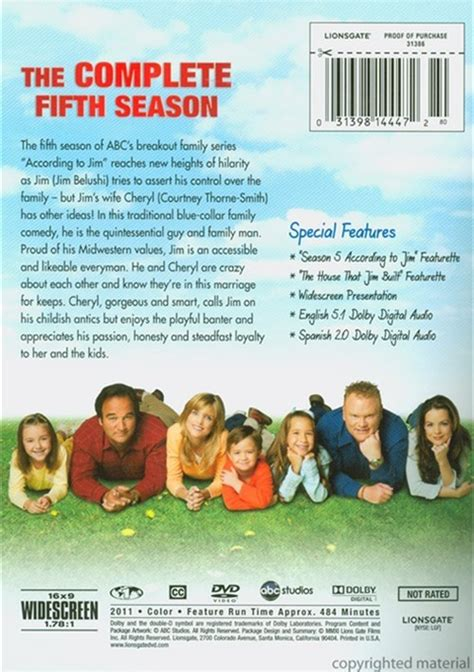 the fifth season the according to jim the complete fifth season dvd 2005 dvd empire
