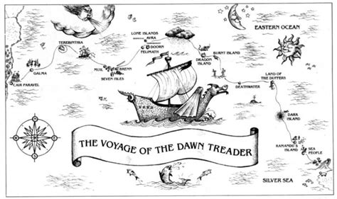 map for voyage of the treader