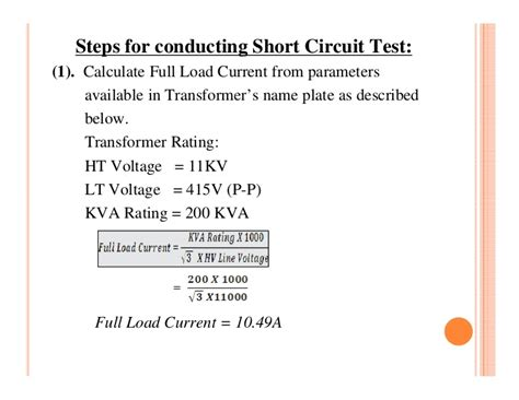 how to find the voltage rating of a capacitor transformer testing
