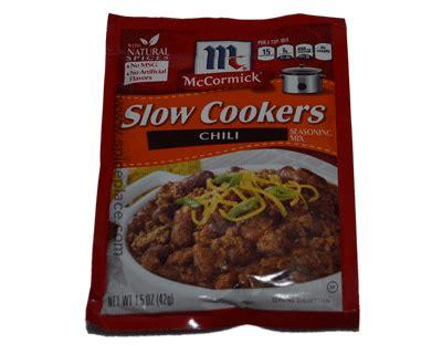 mccormick slow cookers chili seasoning   oz