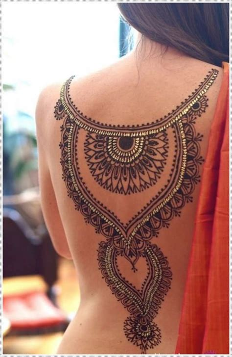 henna design on back 75 henna tattoos that will get your creative juices flowing