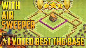 With air sweeper coc th6 trophy base amp war base defense youtube
