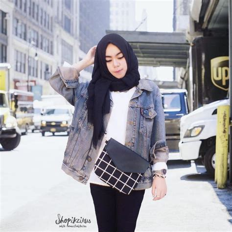 Parka Cewek Simple 6 casual hotd ala selebgram berhijab indonesia