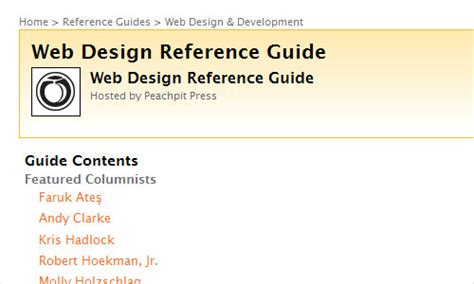 web layout reference 40 useful free online books for web designers instantshift
