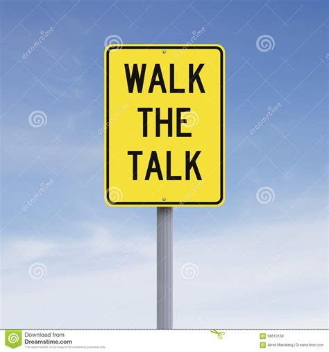 Talk The Talk by Walk The Talk Stock Photo Image Of Sign Challenge