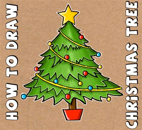 how to draw christmas trees archives how to draw step by