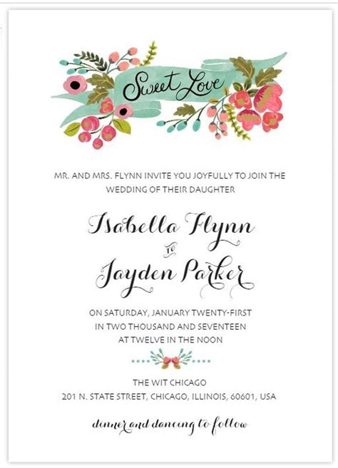 Create Your Own Wedding Invitations With These Free Templates Invitation Stationery Make Your Own Wedding Invitations Templates