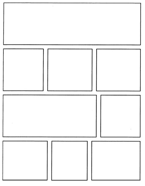 Template For Creating Your Own Comics Https Www Teachingchannel Org Download P Resources Printable Comic Book Template