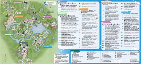 map of animal kingdom new disney s animal kingdom park guide map with harambe