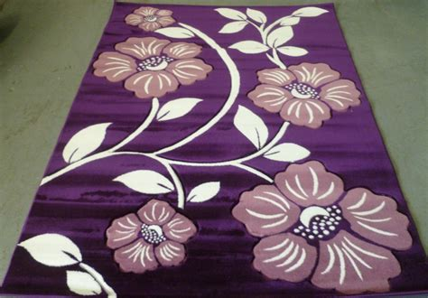 purple floral rugs floral purple area rug 5x7 carved lavender with ivory vines modern 3051 139 00 picclick