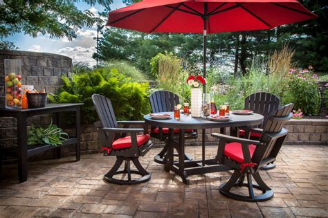Patio Set Umbrella Patio Dining Set With Umbrella Darcylea Design