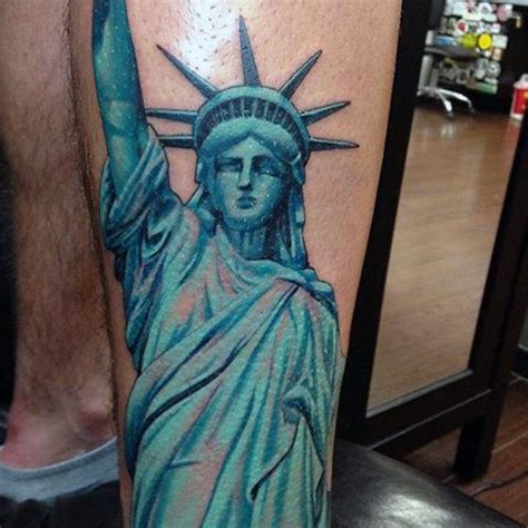 statue of liberty tattoo 11 statue of liberty tattoos that every american will