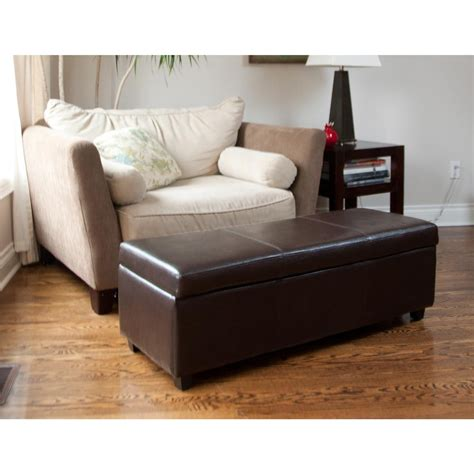 leather ottoman living room brown leather ottoman coffee table cottage living room