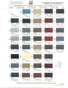 Buick Paint Codes Paint Chips 1987 Gm Buick