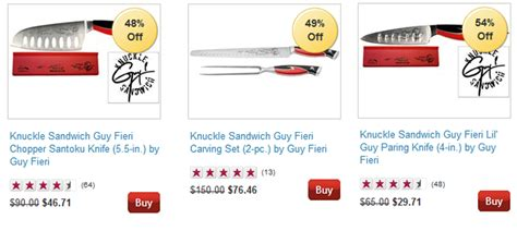 chef knives to go coupon fieri knuckle sandwich knife set 79 99 shipped
