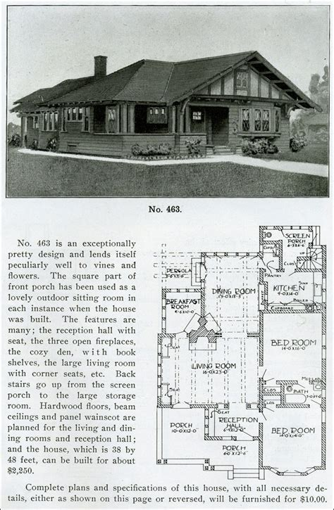 1910 house plans 1919 henry l wilson the bungalow book design no