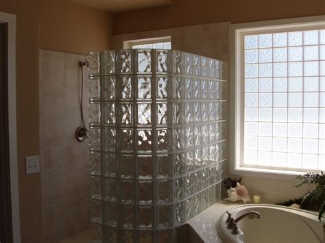 bathroom glass blocks glass block shower