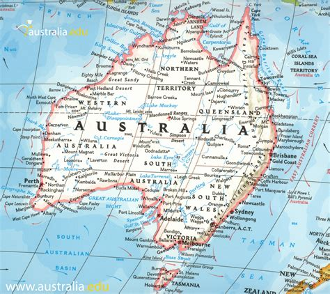australa map detailed travel map of australia maps