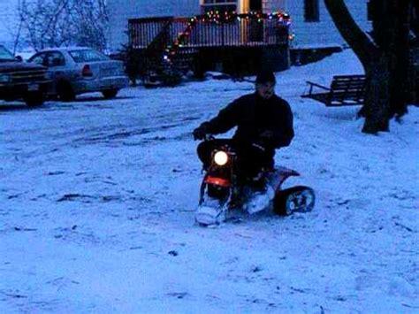 3 wheeler trike roues with commander snow tracks chenil