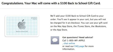 Apple Education Gift Card - apple s back to school promo offers 100 itunes card with mac 50 with ipad