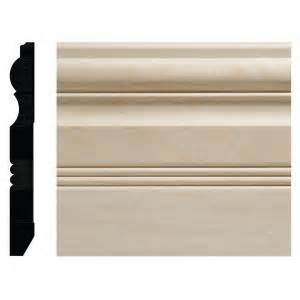 home depot baseboard ornamental mouldings 3 4 in x 6 1 2 in white hardwood