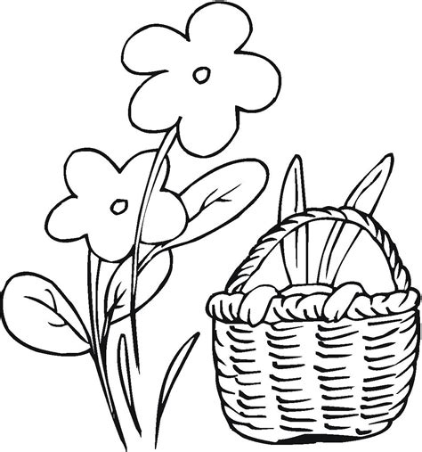 coloring pages of easter flowers easter spring flowers coloring pages womanmate com