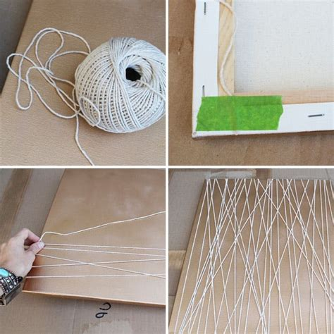 Canvas String - home is where the is 4 simple ways to make spray