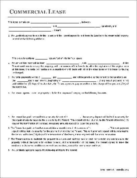 simple commercial lease agreement template free 782 best images about real estate forms on