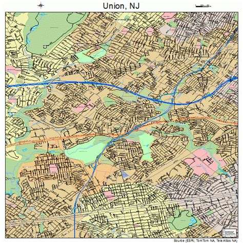 Union County Nj Records Union New Jersey Map 3474510