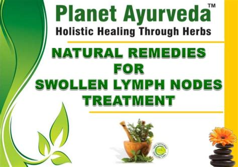 remedies for swollen lymph nodes treatment