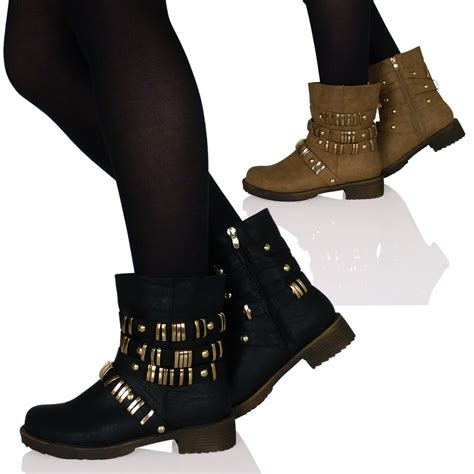 womens biker boots with heels womens low heels flats biker boots shoes ankle