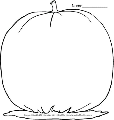 blank pumpkin template printable pumpkin outline coloring home